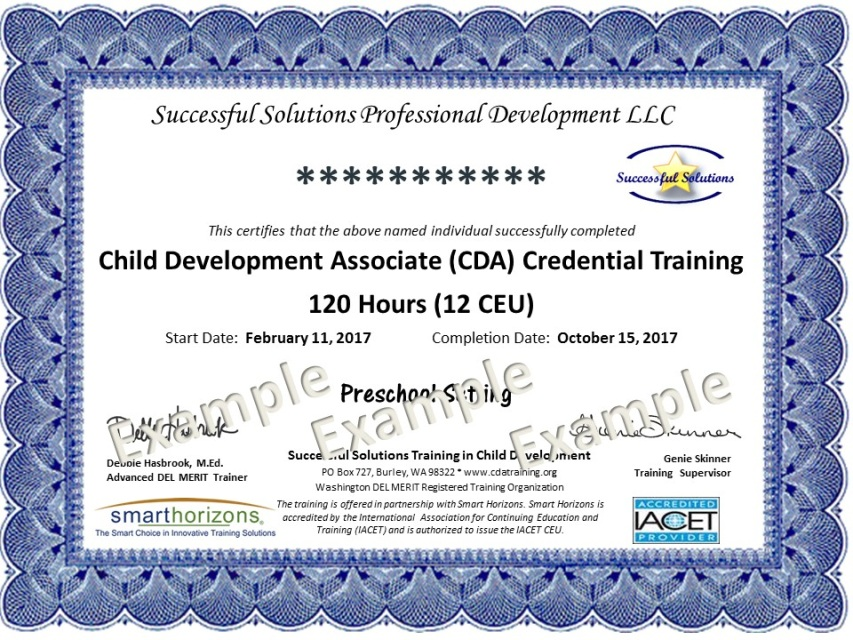 cda training online - preschool setting (36 months to 5 years)