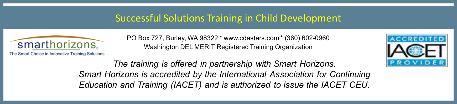 successful solutions training in child development - georgia ...