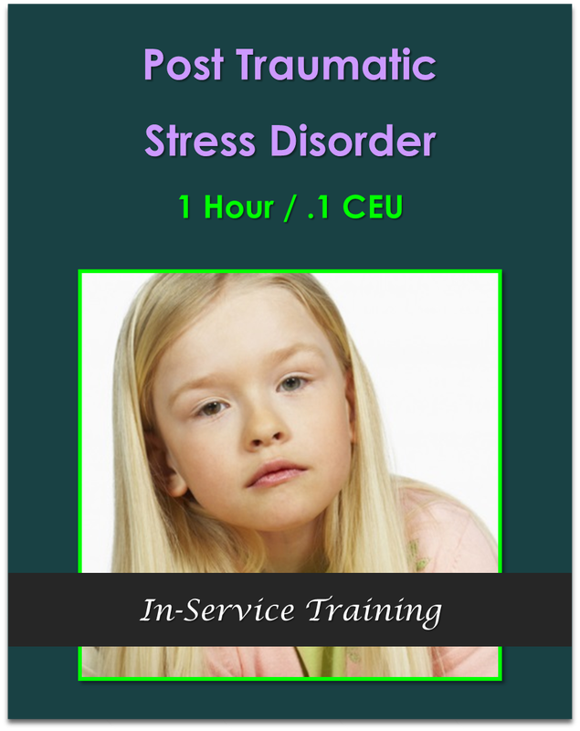 Post Traumatic Stress Disorder 1 hour / .1 CEU  $10.50