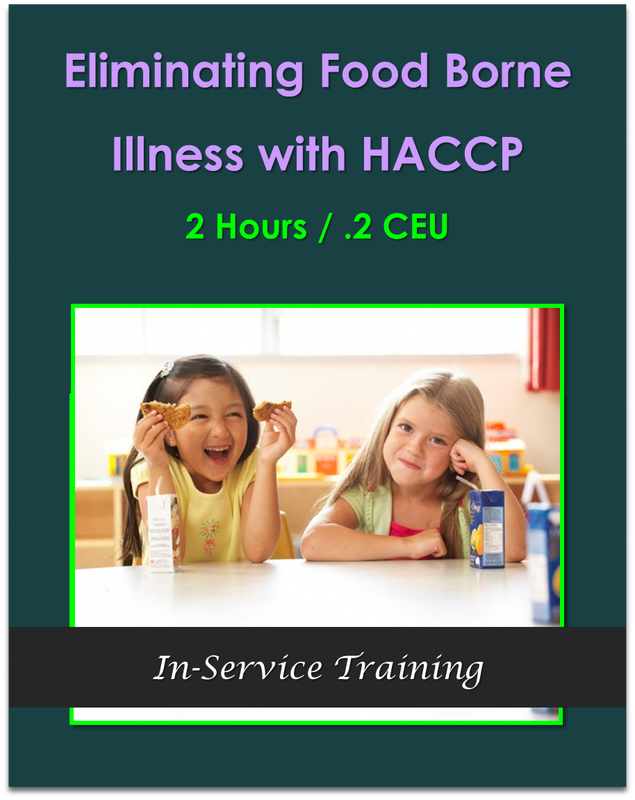 Eliminating Food Borne Illness with HACCP 2 hours / .2 CEU $21.00