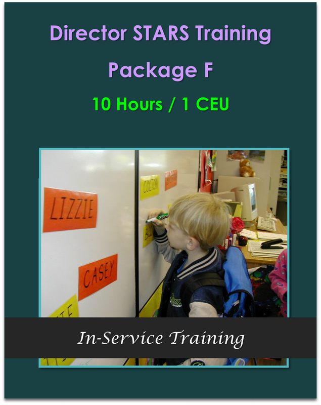 10 Hours Director STARS Package F  10 hours / 1 CEU   $105.00