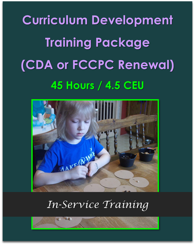 Curriculum Development Training Package Online 45 Hours (CDA or FCCPC Renewal)