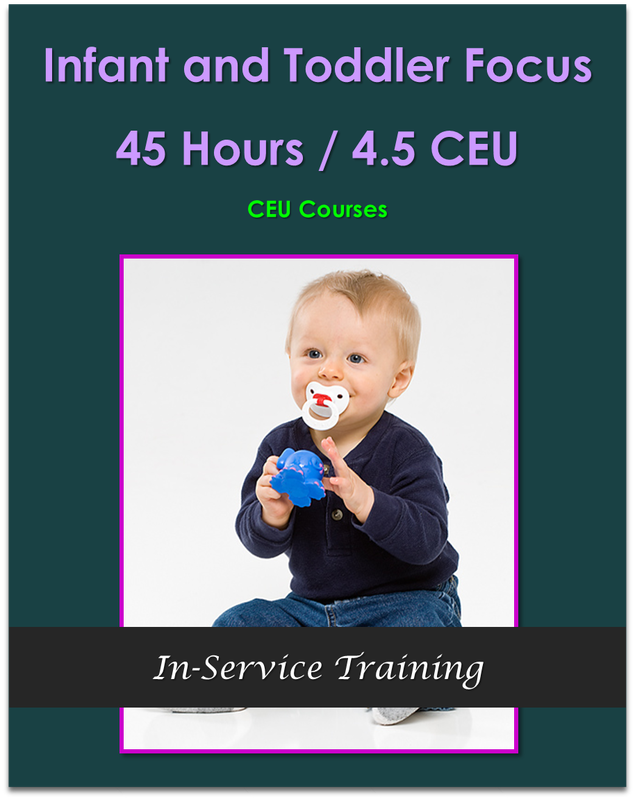 45 Hours Infant and Toddler Focus In-Service Training  [45 hours / 4.5 CEU]
