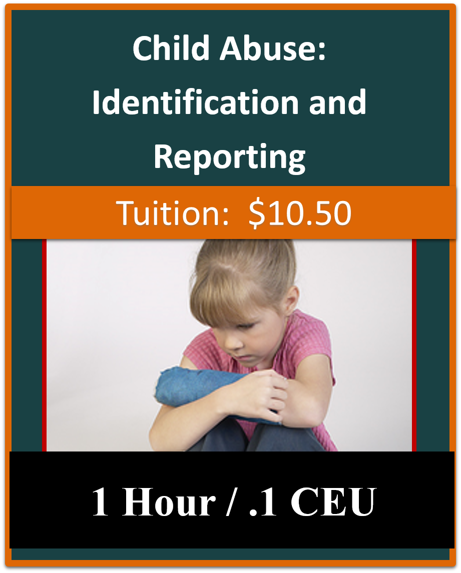 child abuse identification and reporting coursework online If you need help with the online mandated reporter - child abuse identification and reporting - class contact the mandated reporter (child abuse) training help desk  at 1-800-836-0903 and press 3 or email mrcustomerservice@hslcnysorg.